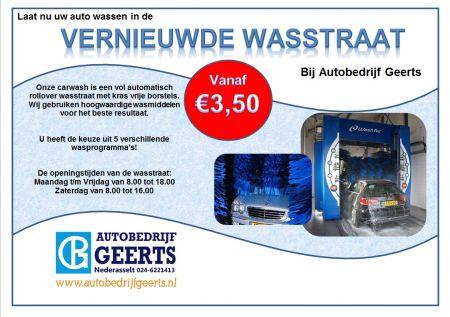 Autobedrijf P. Geerts BV - Wasstraat